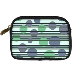 Green simple pattern Digital Camera Cases