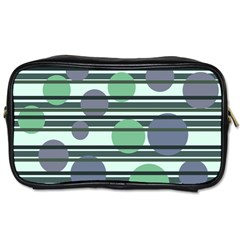 Green simple pattern Toiletries Bags