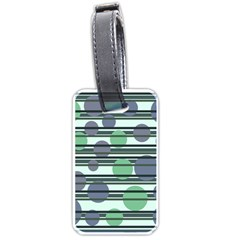 Green simple pattern Luggage Tags (Two Sides)