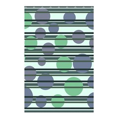 Green simple pattern Shower Curtain 48  x 72  (Small)