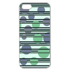Green simple pattern Apple Seamless iPhone 5 Case (Clear)