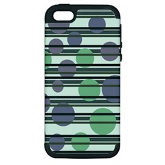Green simple pattern Apple iPhone 5 Hardshell Case (PC+Silicone)