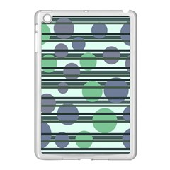 Green simple pattern Apple iPad Mini Case (White)