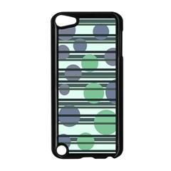 Green simple pattern Apple iPod Touch 5 Case (Black)
