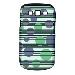 Green simple pattern Samsung Galaxy S III Classic Hardshell Case (PC+Silicone)