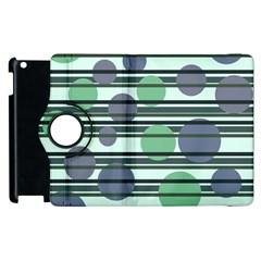 Green simple pattern Apple iPad 3/4 Flip 360 Case