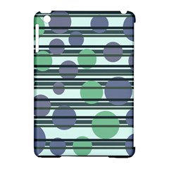 Green simple pattern Apple iPad Mini Hardshell Case (Compatible with Smart Cover)