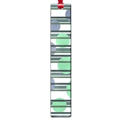 Green simple pattern Large Book Marks