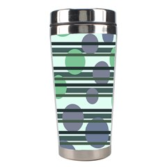 Green simple pattern Stainless Steel Travel Tumblers