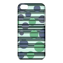 Green simple pattern Apple iPhone 5C Hardshell Case