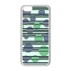 Green simple pattern Apple iPhone 5C Seamless Case (White)