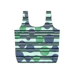 Green simple pattern Full Print Recycle Bags (S)
