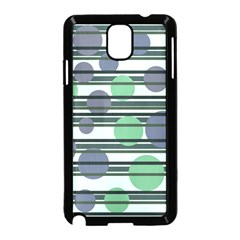 Green simple pattern Samsung Galaxy Note 3 Neo Hardshell Case (Black)