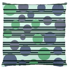 Green simple pattern Standard Flano Cushion Case (One Side)