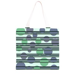 Green simple pattern Grocery Light Tote Bag