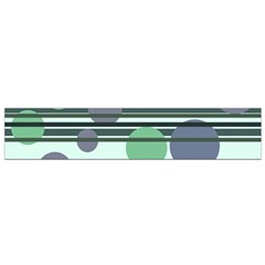 Green simple pattern Flano Scarf (Small)