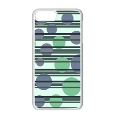 Green Simple Pattern Apple Iphone 7 Plus White Seamless Case