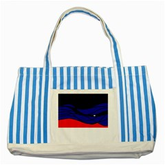Cool obsession  Striped Blue Tote Bag