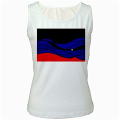 Cool obsession  Women s White Tank Top