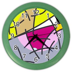 Fair skater  Color Wall Clocks