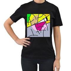 Fair skater  Women s T-Shirt (Black)