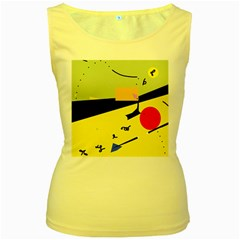 Party in the desert  Women s Yellow Tank Top
