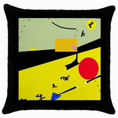 Party in the desert  Throw Pillow Case (Black)