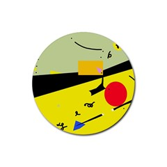 Party in the desert  Rubber Coaster (Round)