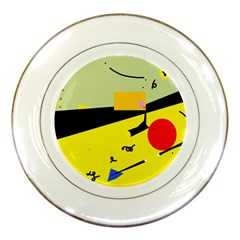 Party in the desert  Porcelain Plates