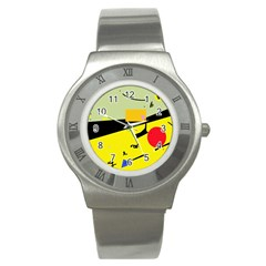 Party in the desert  Stainless Steel Watch