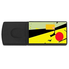 Party in the desert  USB Flash Drive Rectangular (4 GB)
