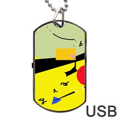 Party in the desert  Dog Tag USB Flash (Two Sides)