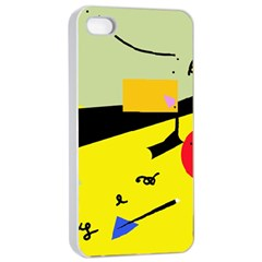 Party in the desert  Apple iPhone 4/4s Seamless Case (White)