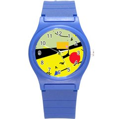 Party in the desert  Round Plastic Sport Watch (S)
