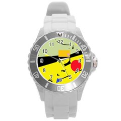 Party in the desert  Round Plastic Sport Watch (L)