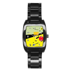 Party in the desert  Stainless Steel Barrel Watch