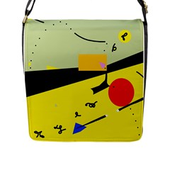 Party in the desert  Flap Messenger Bag (L)