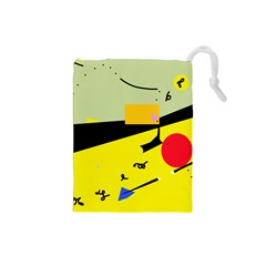 Party in the desert  Drawstring Pouches (Small)