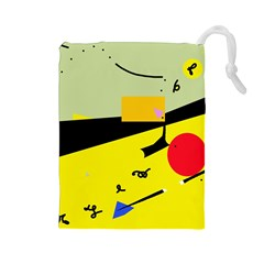 Party in the desert  Drawstring Pouches (Large)