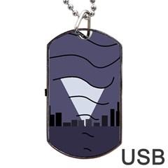 Tesla Dog Tag USB Flash (One Side)