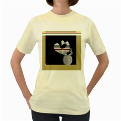 Abstract art Women s Yellow T-Shirt