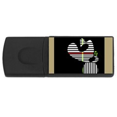 Abstract art USB Flash Drive Rectangular (1 GB)
