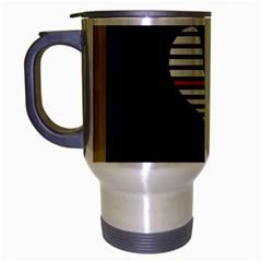 Abstract art Travel Mug (Silver Gray)