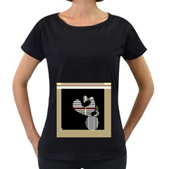 Abstract art Women s Loose-Fit T-Shirt (Black)