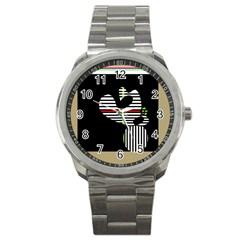 Abstract art Sport Metal Watch