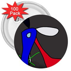 Donkey 3  Buttons (100 pack)