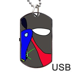 Donkey Dog Tag USB Flash (Two Sides)