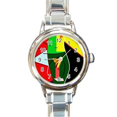 Abstract lady Round Italian Charm Watch