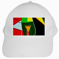 Abstract lady White Cap