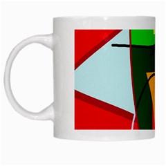 Abstract lady White Mugs